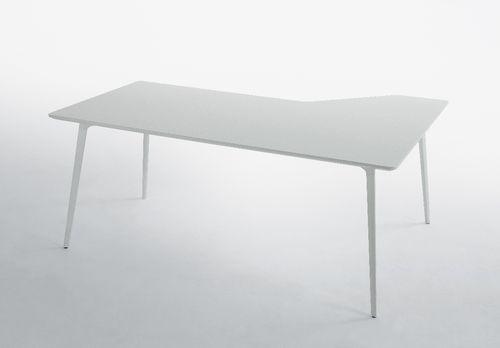 MDF desk / aluminum / contemporary / commercial