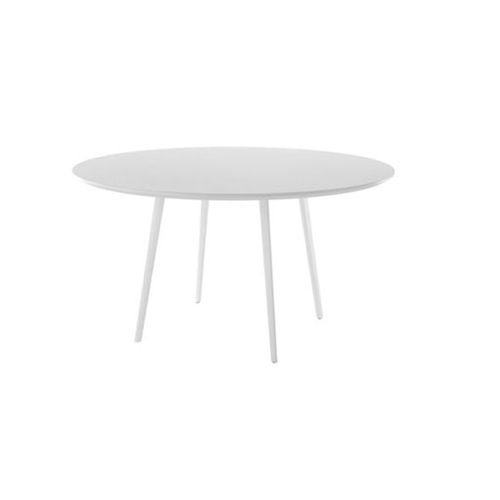 contemporary boardroom table / MDF / steel / round