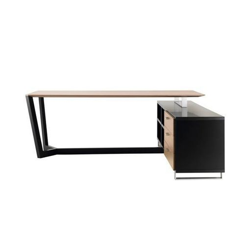 wooden desk / stainless steel / contemporary / commercial