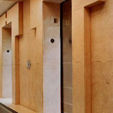 limestone wall cladding / interior / exterior / natural finish