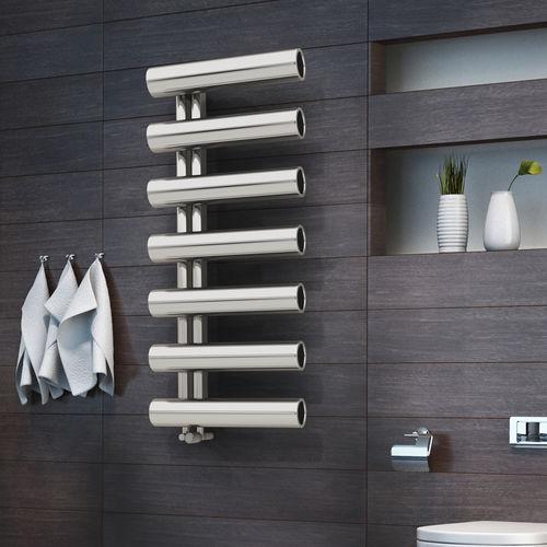 hot water towel radiator / electric / steel / original design