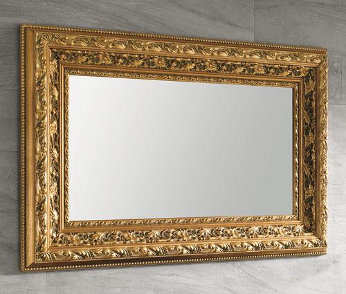 wall-mounted bathroom mirror / traditional / rectangular