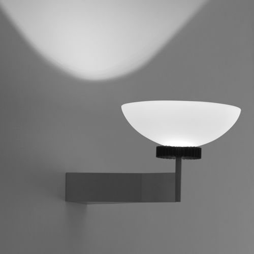 original design wall light / lacquered metal / glass / LED
