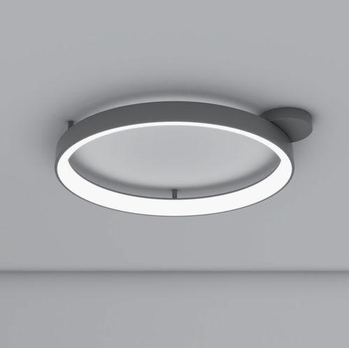original design ceiling light / round / painted aluminum / methacrylate