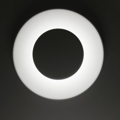 contemporary wall light / painted aluminum / LED / round