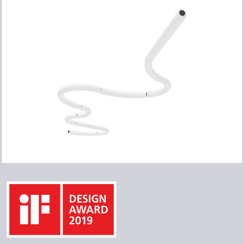 hanging light fixture / LED / polyethylene / modular