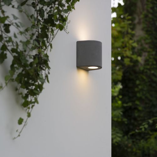 contemporary wall light / outdoor / cement / LED