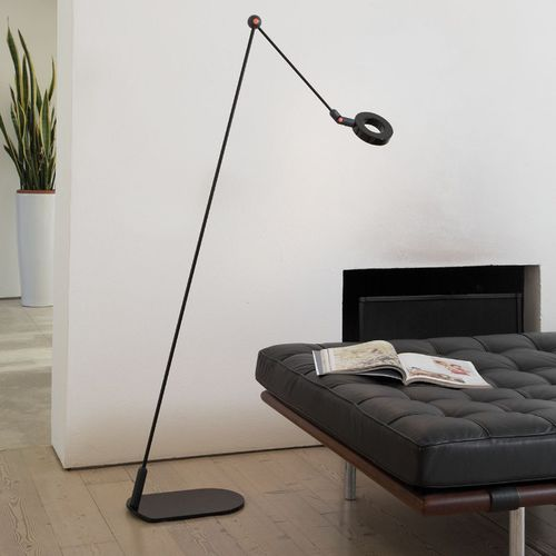 floor-standing lamp / contemporary / methacrylate / painted aluminum