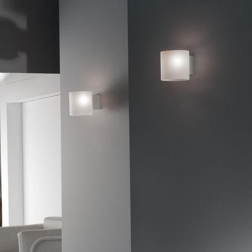 original design wall light / glass / blown glass / LED