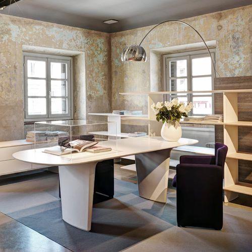 executive desk / wood veneer / MDF / contemporary
