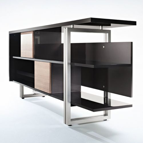 contemporary shelf / wooden / commercial / for offices