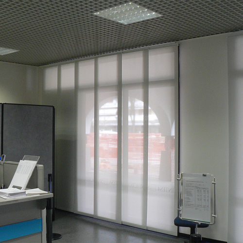 sliding panel blinds / fabric / commercial / sun protection