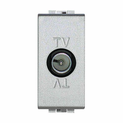 TV socket / wall-mounted / metal / contemporary