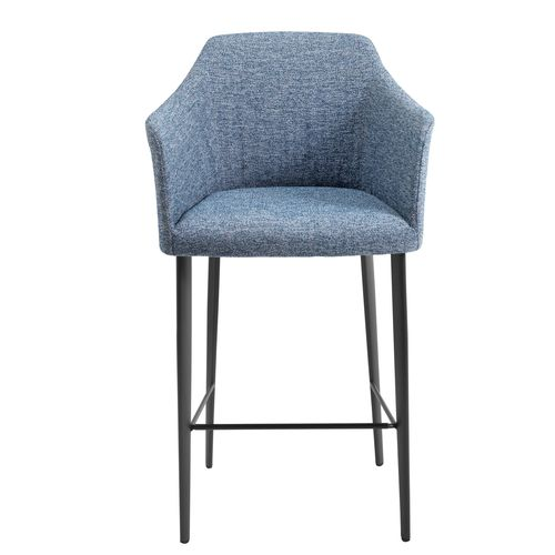 contemporary bar chair / upholstered / with footrest / with armrests