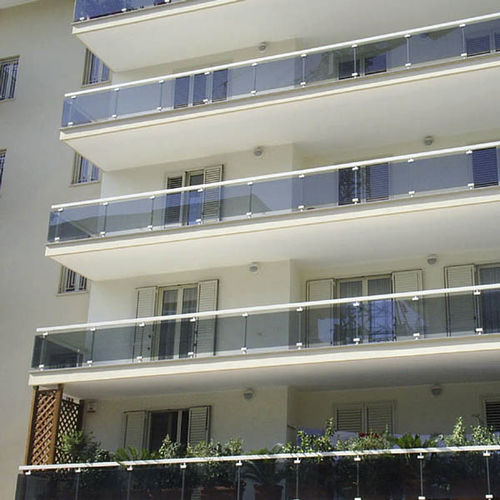 balcony with panels
