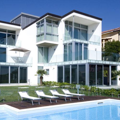 sliding patio door / aluminum / double-glazed / thermally-insulated