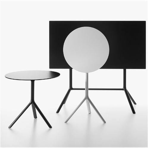 contemporary bistro table / aluminum / HPL / MDF