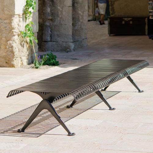 public bench / contemporary / metal / modular