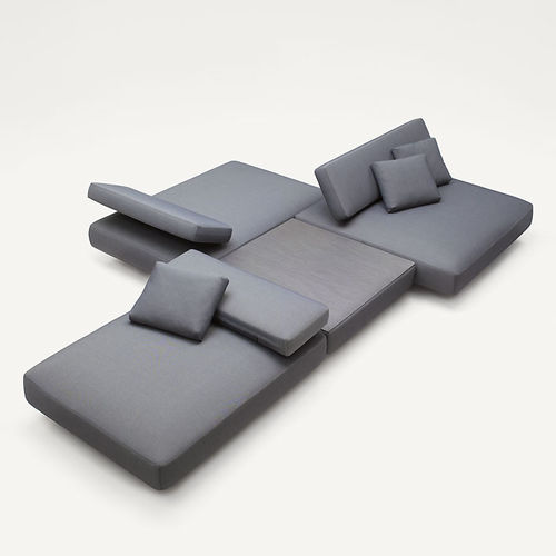 modular sofa / contemporary / steel / polyester fiber