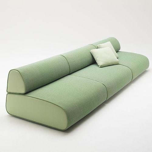 contemporary sofa / garden / fabric / 3-seater