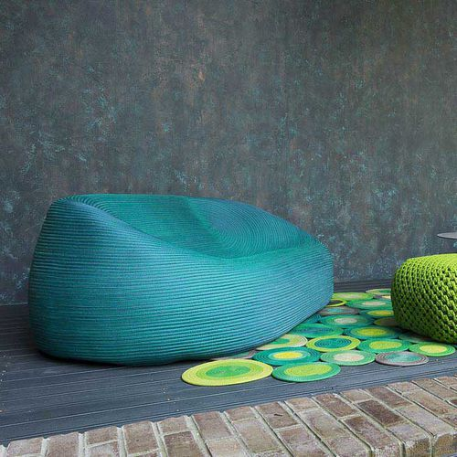 contemporary sofa / garden / fabric / rope