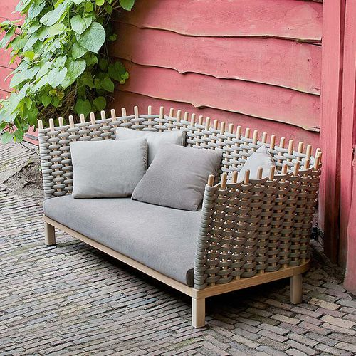 contemporary sofa / garden / fabric / rope