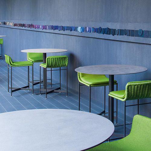 contemporary bar stool / steel / rope / garden