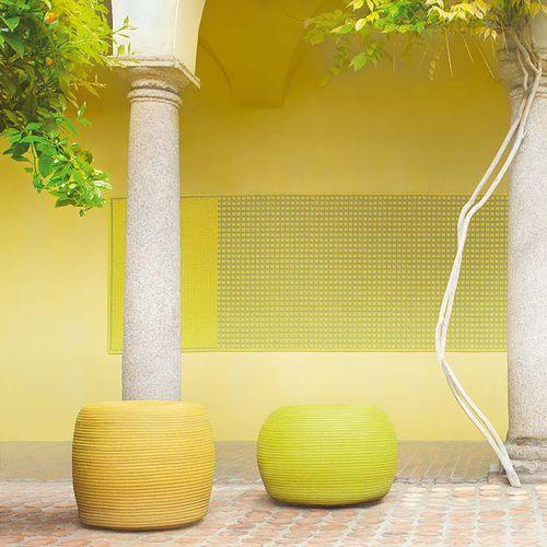 contemporary pouf / fabric / round / garden
