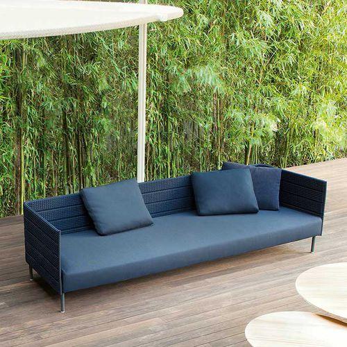 modular sofa / contemporary / garden / stainless steel
