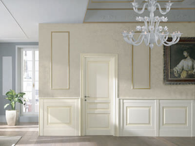 built-in paneling / wooden / lacquered / matte
