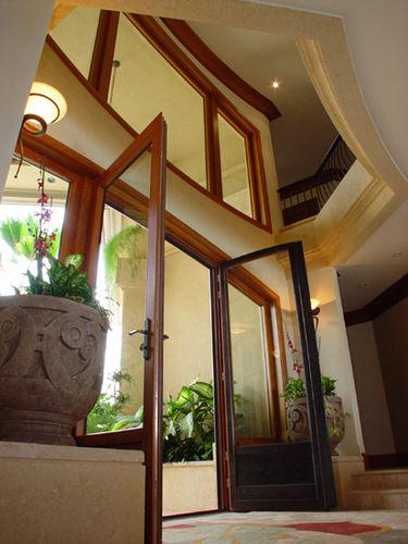 entry door / swing / glass / security