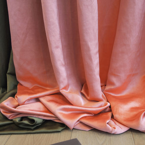 curtain fabric / plain / linen / viscose