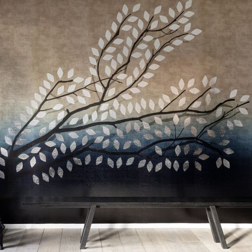 traditional wallpaper / vinyl / nature pattern / color