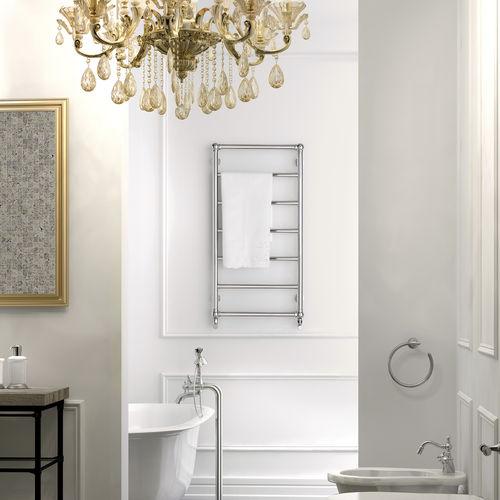 hot water towel radiator / steel / traditional / bathroom