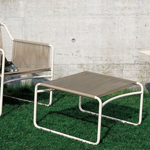 contemporary footrest / stainless steel / polyester / for outdoor use