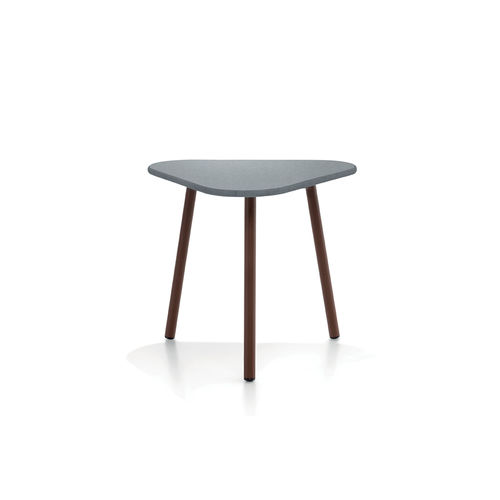contemporary side table / teak / aluminum / HPL