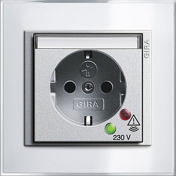 power socket / wall-mounted / contemporary / with overvoltage protection