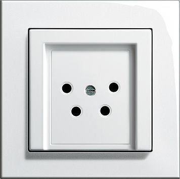 telephone socket / wall-mounted / contemporary / white