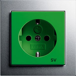 power socket / wall-mounted / contemporary / Schuko