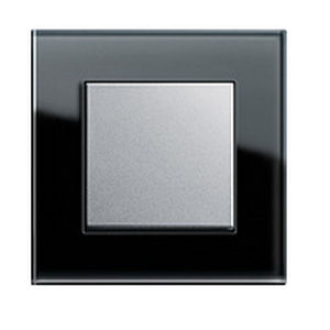 light switch / push-button / contemporary / glass look