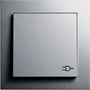 power socket / wall-mounted / contemporary / with hinged cover