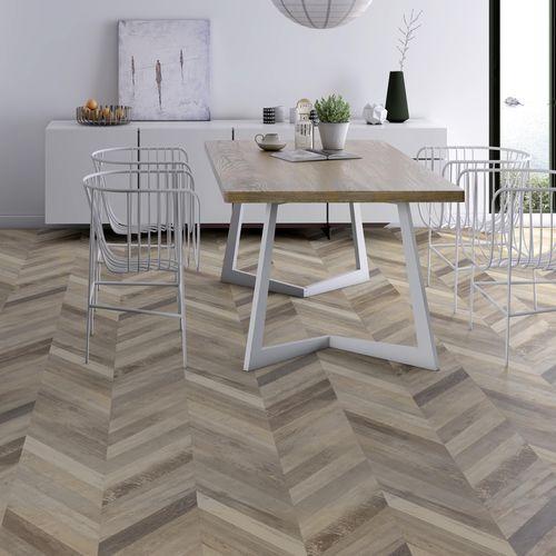 HDF laminate flooring / floating / wood look / home