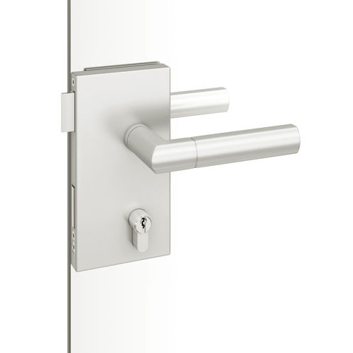 glass door handle / stainless steel / aluminum / contemporary