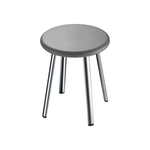 contemporary stool / stainless steel / for hotel