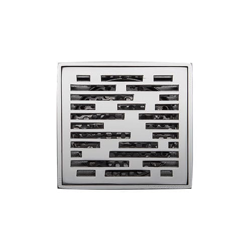 stainless steel floor drain / for showers / square