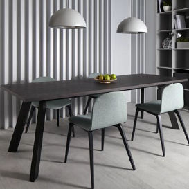 contemporary dining table / wooden / rectangular