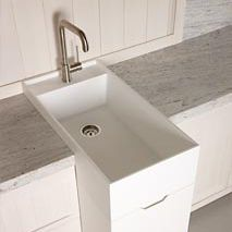 single-bowl kitchen sink / Corian®