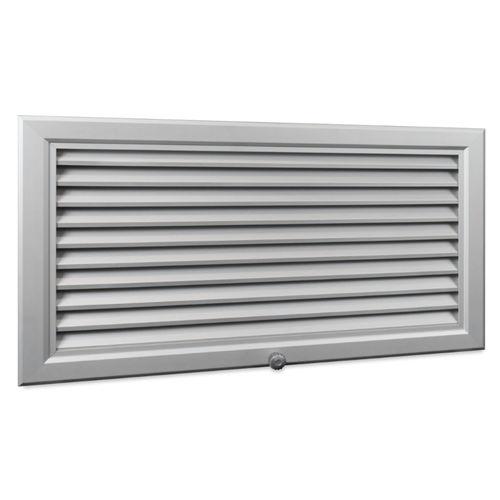 galvanized steel ventilation grill / aluminum / rectangular / white
