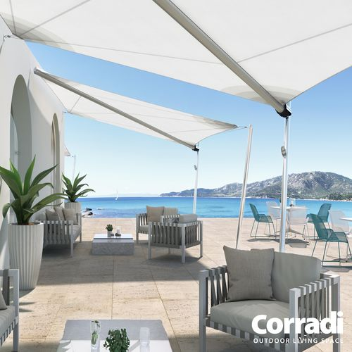 custom shade sail / automatic / commercial / triangular