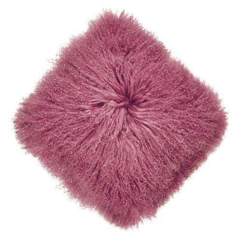 square cushion / plain / leather / multi-color